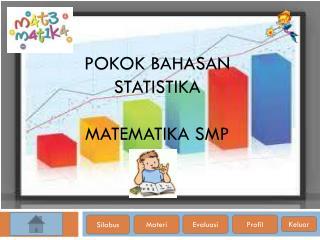 Pokok bahasan STATISTIKA  matematika  SMP