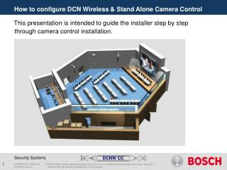How to configure DCN Wireless & Stand Alone Camera Control