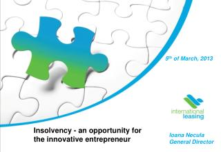 Insolvency - an opportunity for the innovative entrepreneur