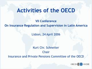 Activities of the OECD