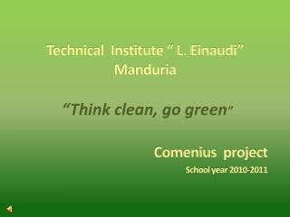 "Technical  Institute "" L. Einaudi"" Manduria"