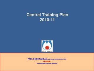 Central Training Plan 2010-11