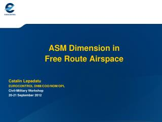 ASM Dimension in  Free Route Airspace
