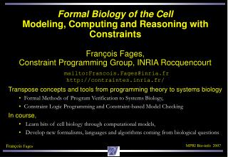 Transpose concepts and tools from programming theory to systems biology