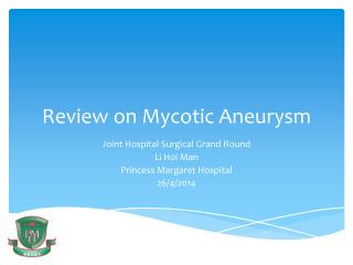 Review on Mycotic Aneurysm