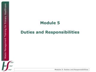 Module 5 Duties and Responsibilities