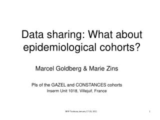 Data sharing: What about epidemiological cohorts?