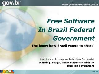 Free Software In Brazil Federal  Government