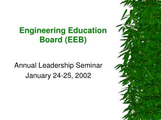 Engineering Education Board (EEB)