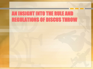 An insight into the rule and regulations of discus throw