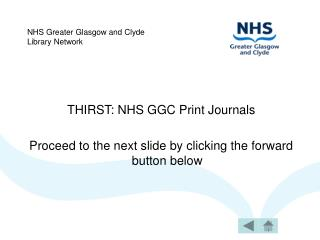 NHS Greater Glasgow and Clyde Library Network