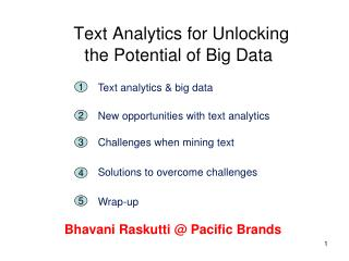 Text Analytics for Unlocking the Potential of Big Data
