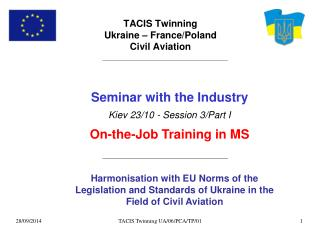 TACIS Twinning  Ukraine – France/Poland Civil Aviation
