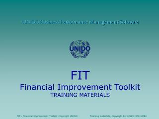 UNIDO Business Performance Management Software