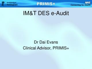 IM&T DES e-Audit