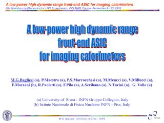 A low-power high dynamic range  front-end ASIC  for imaging calorimeters