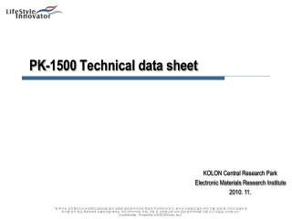 PK-1500 Technical data sheet