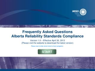 Frequently Asked Questions Alberta Reliability Standards Compliance