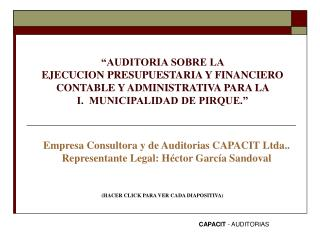 CAPACIT  - AUDITORIAS