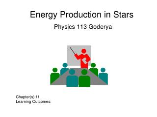 Energy Production in Stars