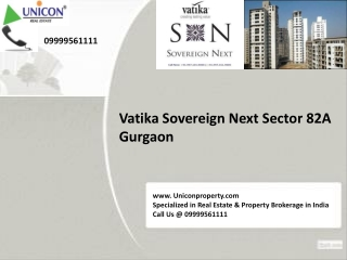 Vatika Sovereign Next Gurgaon @ 09999561111