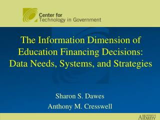 The Information Dimension of Education Financing Decisions:  Data Needs, Systems, and Strategies