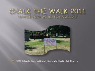 "CHALK THE WALK 2011 ""Change Your World for Wildlife"""