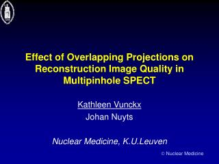 Effect of Overlapping Projections on Reconstruction Image Quality in Multipinhole SPECT