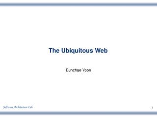 The Ubiquitous Web