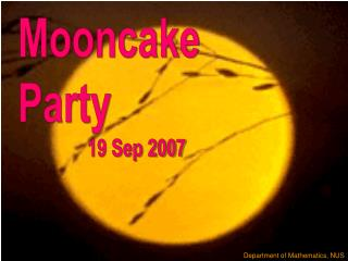 Mooncake Party