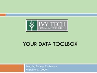 Your data Toolbox