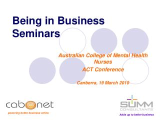 Being in Business Seminars