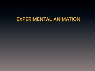 Experimental  Animation