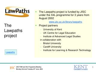 The Lawpaths project