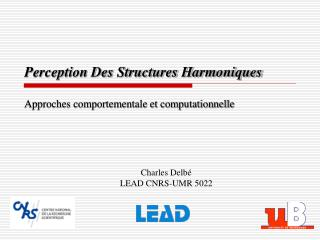 Perception Des Structures Harmoniques Approches comportementale et computationnelle