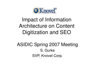 Impact of Information Architecture on Content Digitization and SEO