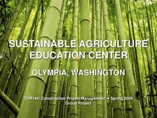 SUSTAINABLE AGRICULTURE EDUCATION CENTER