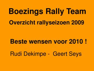 Boezings Rally Team