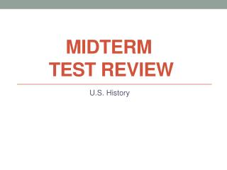 Midterm  Test Review