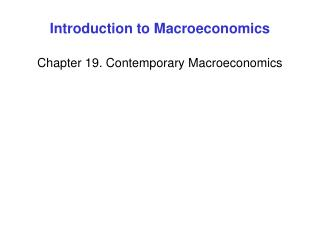 Introduction to Macroeconomics