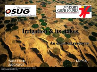 Irrigation & its stakes
