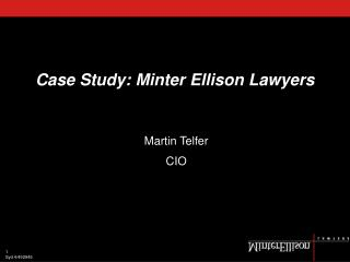 Case Study: Minter Ellison Lawyers