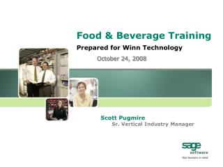 Food & Beverage Training