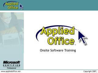 Onsite Software Training