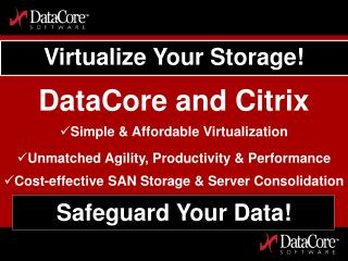 Virtualize Your Storage!