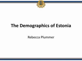 The Demographics of Estonia