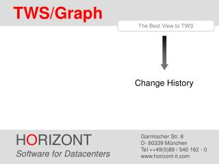 H O RIZONT Software for Datacenters