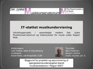 IT-støttet musikundervisning