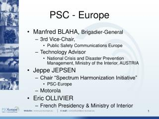 PSC - Europe