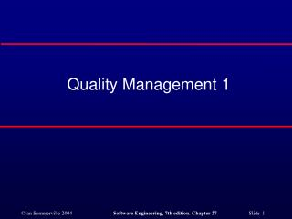 Quality Management 1